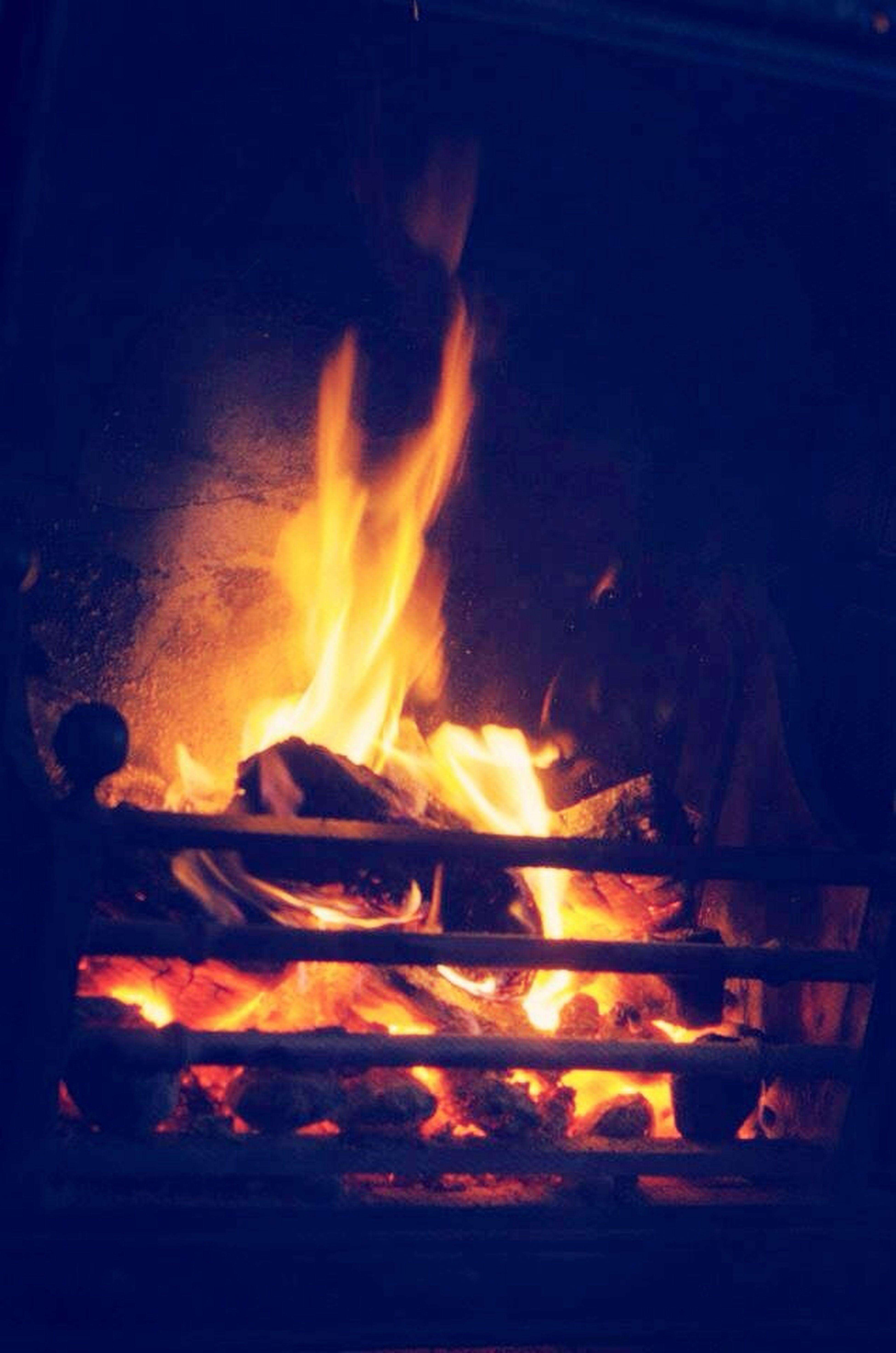 Fire Wintertime Winter Natural