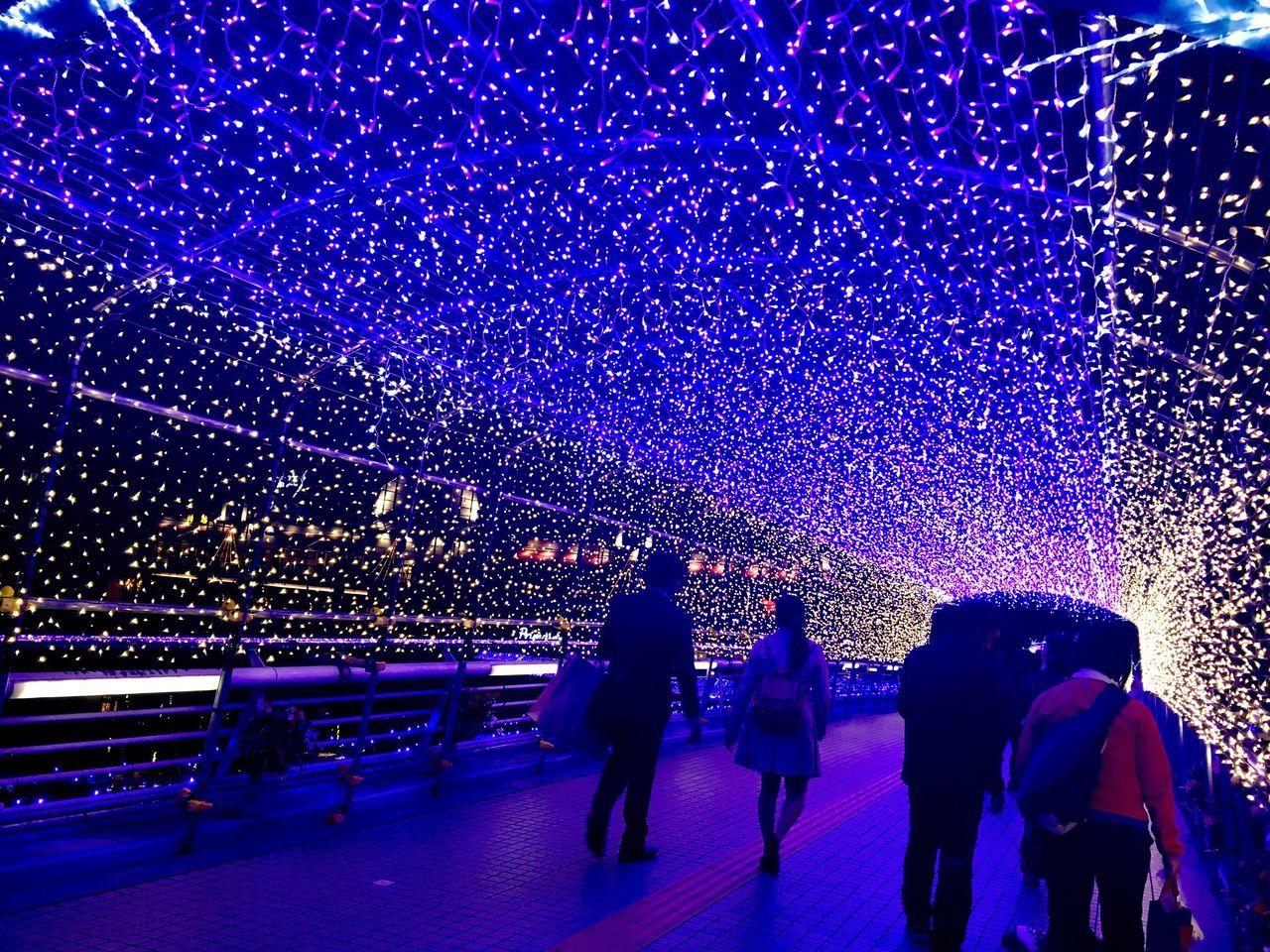 Night Illumination Japan Beuatiful Blue Bluelight