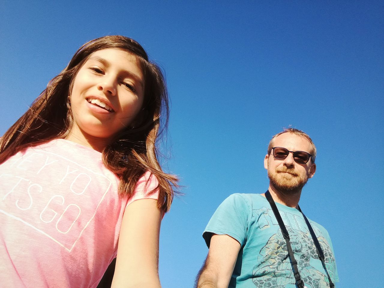 EyeEm Selects Me and Alessandra Two People Sunglasses Portrait Togetherness Happiness Looking At Camera Clear Sky Blue People Adult Smiling Young Adult Sky Day Summer Young Women Child Outdoors Friendship Real People EyeEm Best Shots Leica Huawei P9 Eye4photography  Fresh 3 Let's Go. Together.