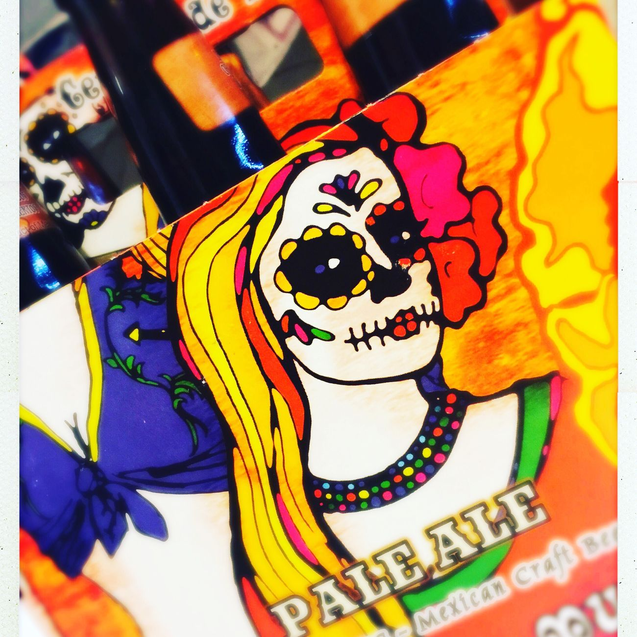 Went to a food festival and bought a pack of Mexican beer. Loved the packaging and the beer wasn't bad either Temptation Food And Drink Art Detail Human Representation Multi Colored Creativity Unhealthy Eating Beer IPhoneography Bedford Iphone6plus Bedfordshire Iphoneonly IPhone Beer Time MexicanGirl Mexican Mexican Art