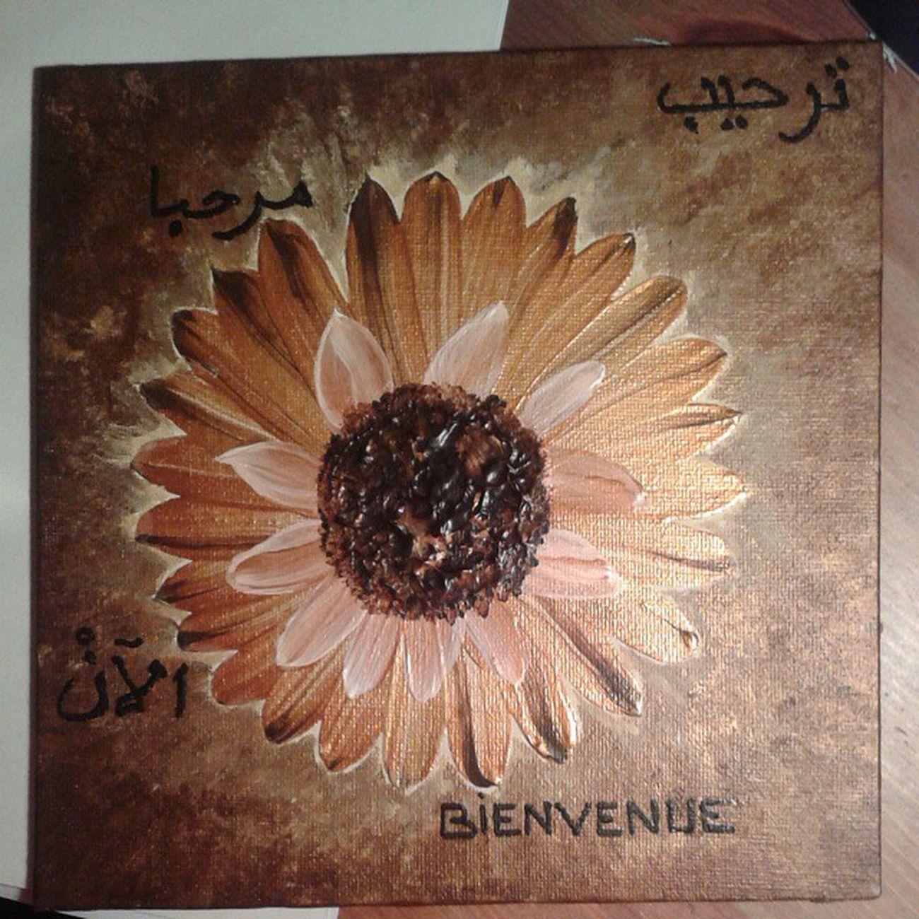 Art Mes Peintures Acryliques tournesolsabstraitcadeauxtoile bienvenuearabealgérienfrancaisormarronpersonnalisédélirefleur flowerscanvasarteartistic