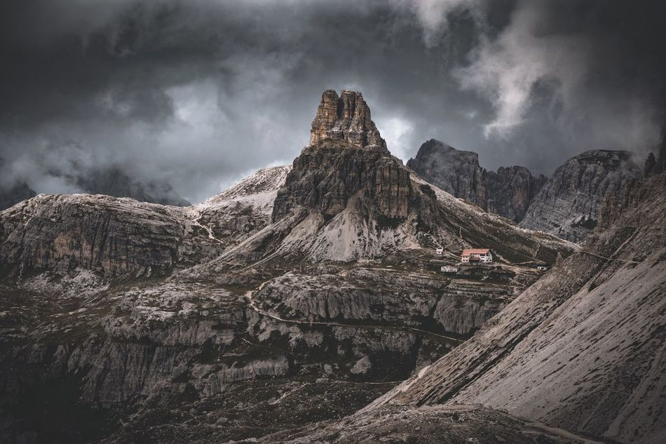 Not too bad weather. Italy Mountain Geology Sky Nature Physical Geography Tranquility Beauty In Nature Non-urban Scene Rock Formation Landscape Tranquil Scene Scenics Rock - Object Travel Destinations Remote Outdoors Tourism Rocky Mountains Extreme Terrain Cloud - Sky