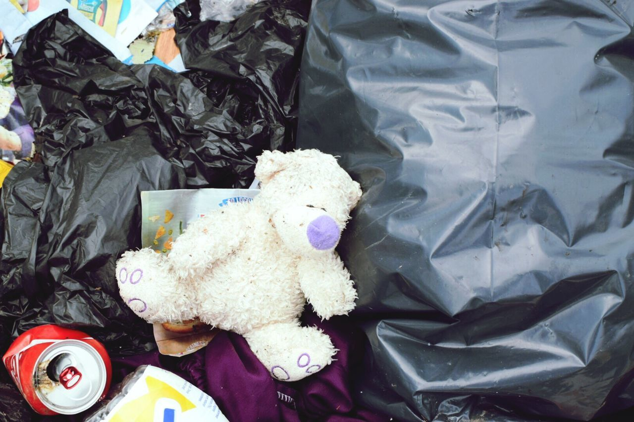 🙁 | High Angle View Outdoors Rubbish Litter Untidy Teddy Bear Toy Abandoned No People Taking Photos EyeEm Gallery Eye4photography