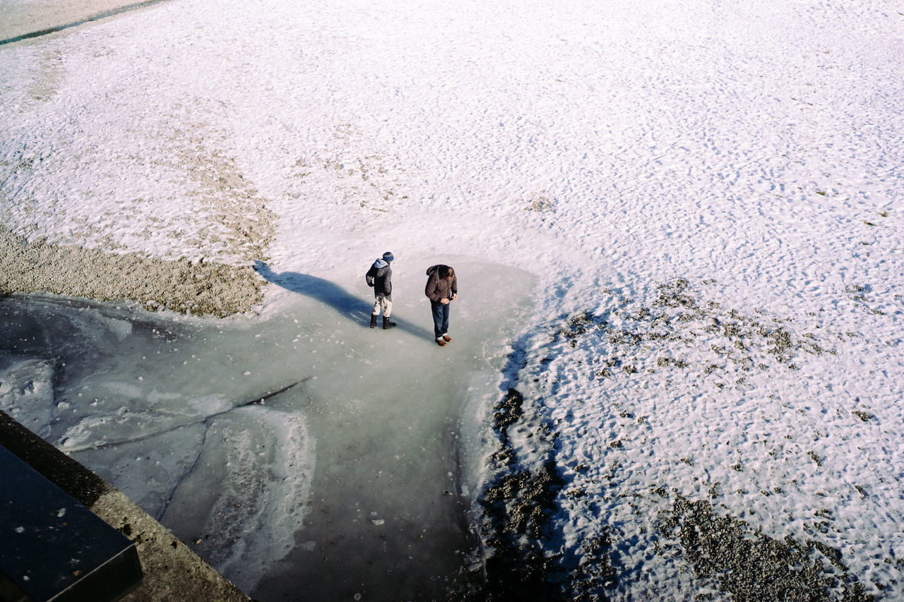 Weekend City - Frozen Feet Adult Adults Only Day From My Point Of View Frozen Ice Isar Men Nature Only Men Outdoors People Real People Togetherness Water