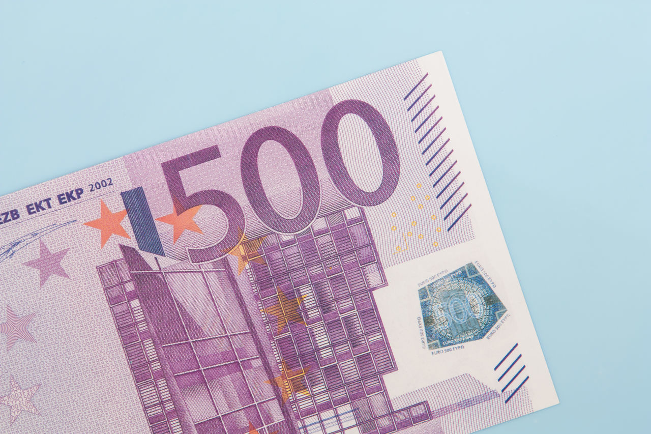 Various euro notes on light blue background 500 Euro Note Accounting Banking Credit Currency Debit Debt Euro Crisis Euro Notes Euro Zone Financial Financial Planning Financial Service Income Money Money Money Money Mortgage Pocket Money Spending Money