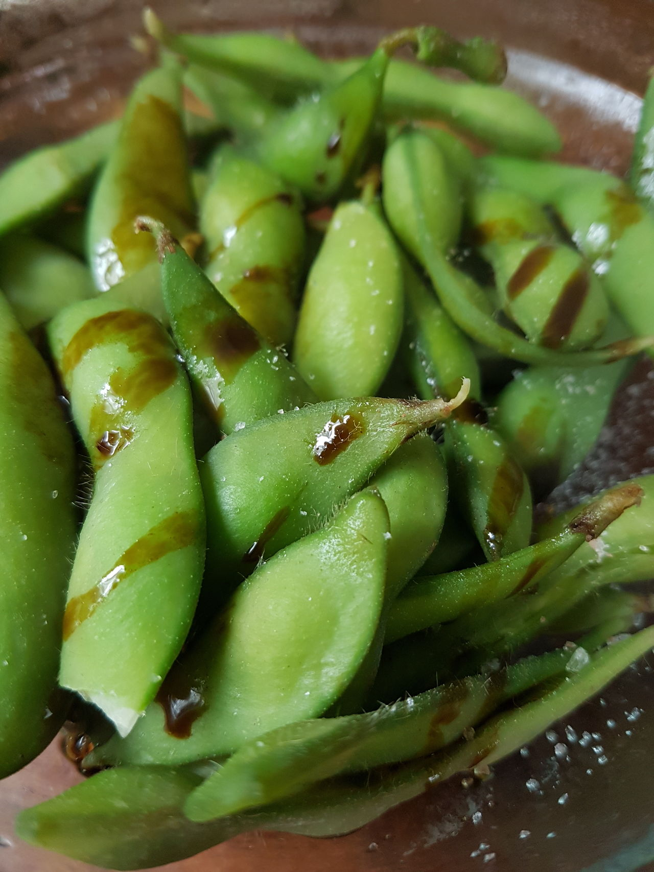 Green Color Close-up soybean soy Salt Shiney Tasty Food Food And Drink No People Freshness Healthy Eating Indoors  Day