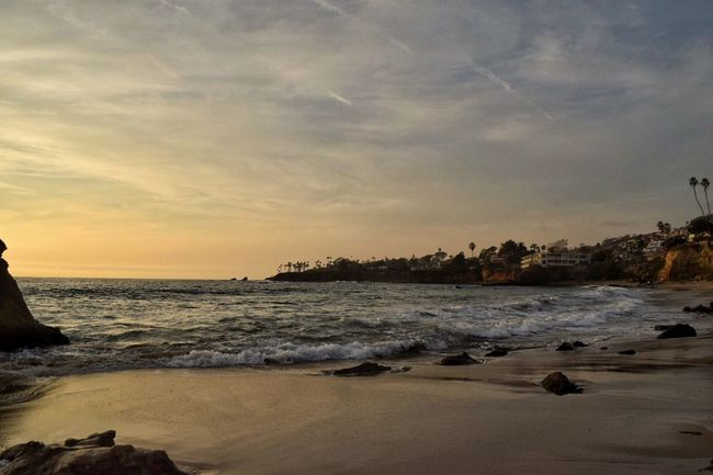 Another beautiful day in Laguna Beach At Heislerpark Loving the colors over the Ocean in Southern California
