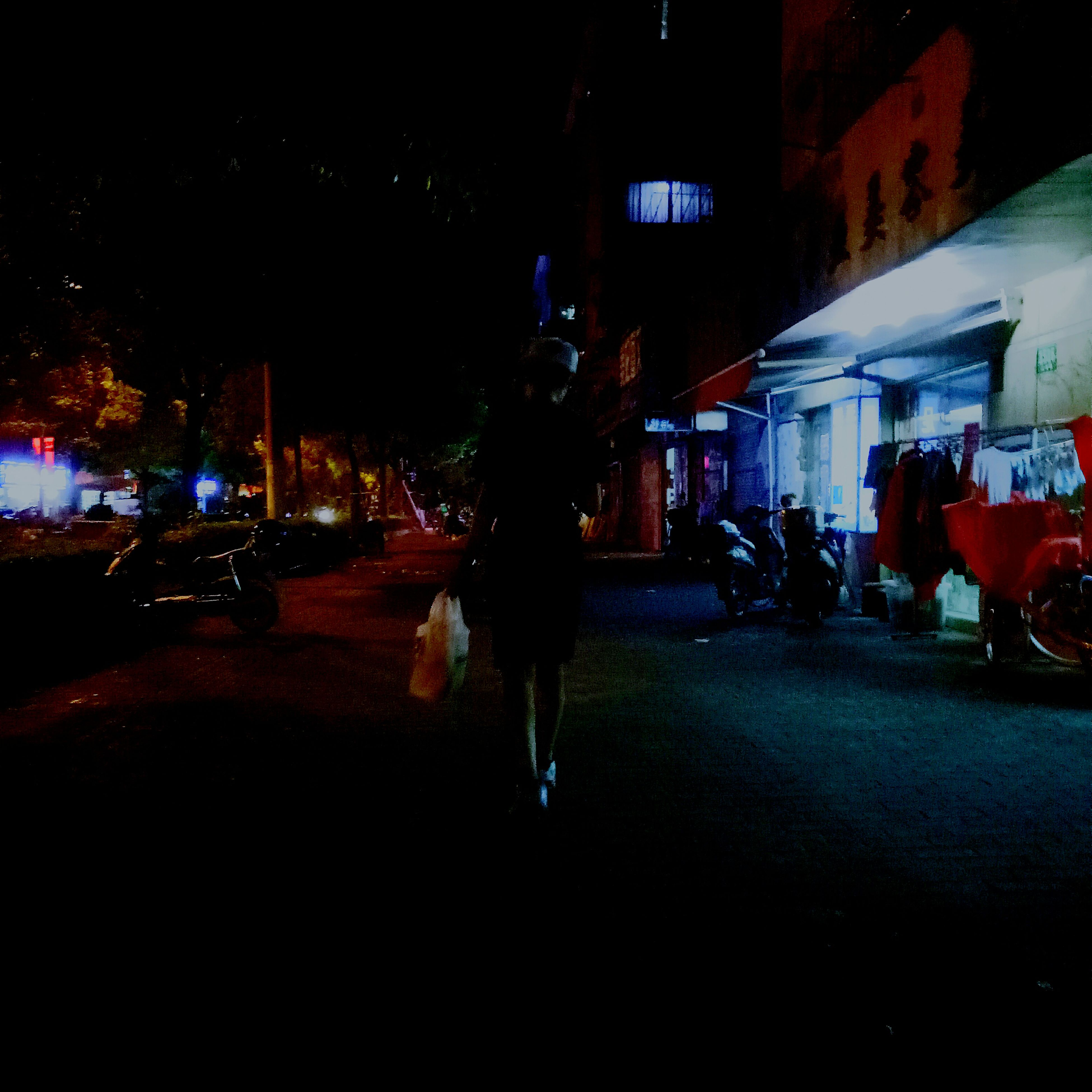 night, illuminated, lifestyles, leisure activity, city life, city, city street, group of people, outdoors, casual clothing