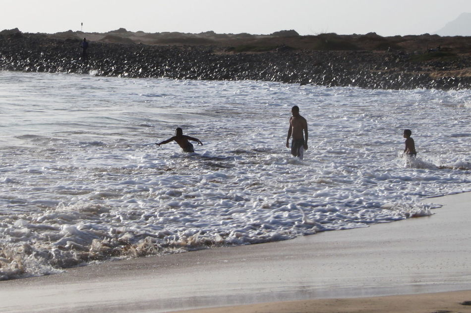 Beach Capo Verde Day Motion Outdoors Real People Sal Island Santa Maria Scenics Sea Sky Summer 2015 Swimming Water Wave