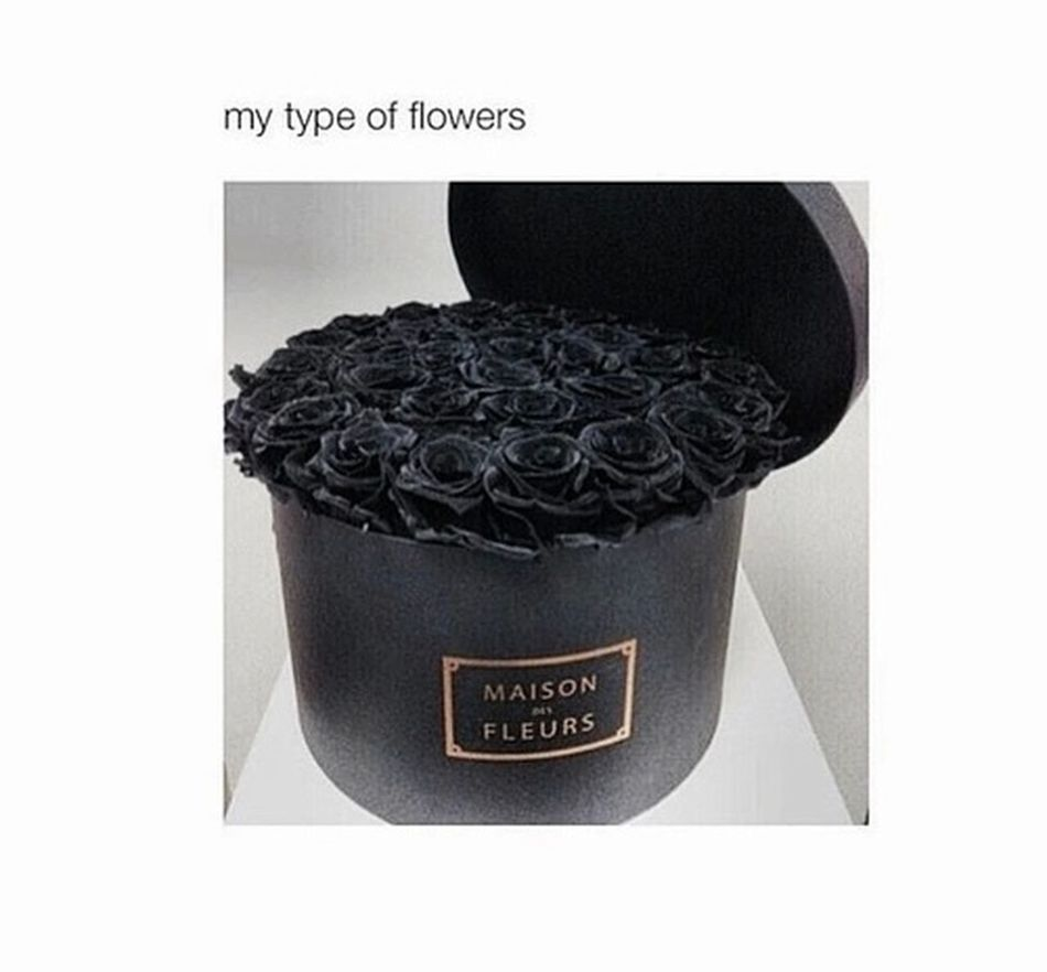 Roses Black My Type Of Style Cool