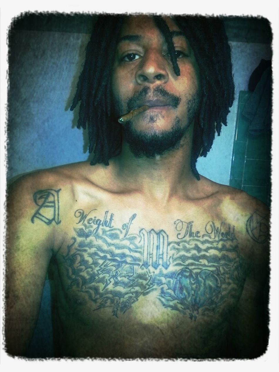 Pearled Pretty Muthafucker Tatt On My Chest