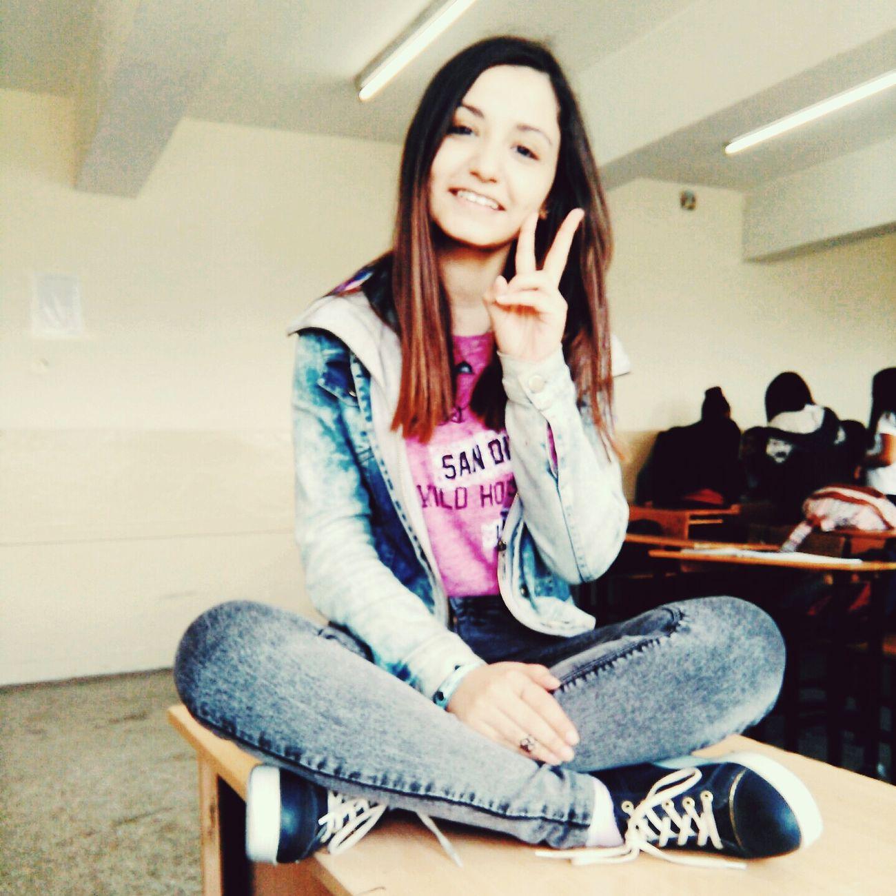 AtSchool Cute♡ Sweet Lovely Peace ✌ ^•^