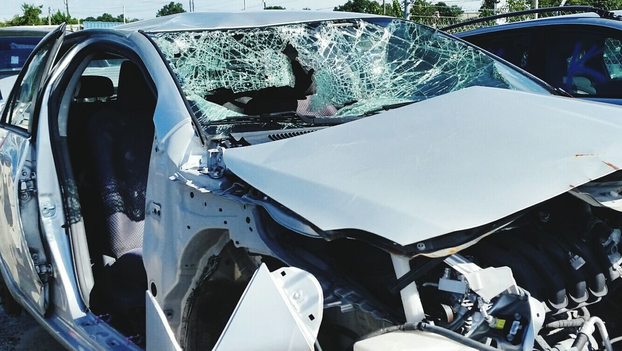 Wreck Salvage Car Crash Destruction Dui Seat Belt While Driving Texting
