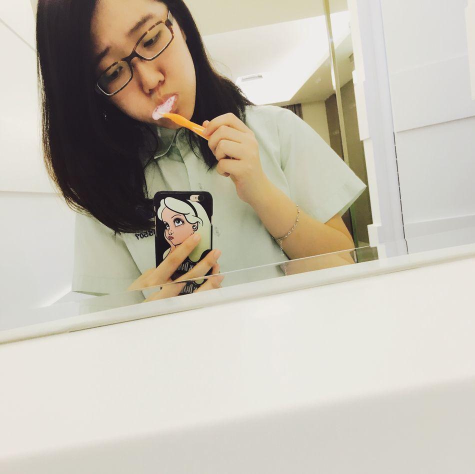 Brushing My Teeth Braceface  Bracesgirl