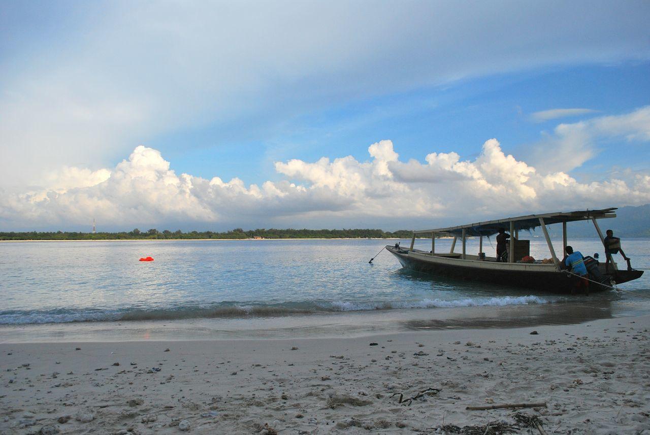 A little slice of paradise Travel Photography Beach Boat INDONESIA Ocean Peaceful Paradise Paradise Beach Beach Please