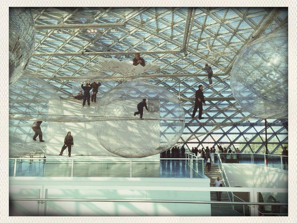 ArtWork Artist Art Installation Mesh Net Glass Transparency Spectecular