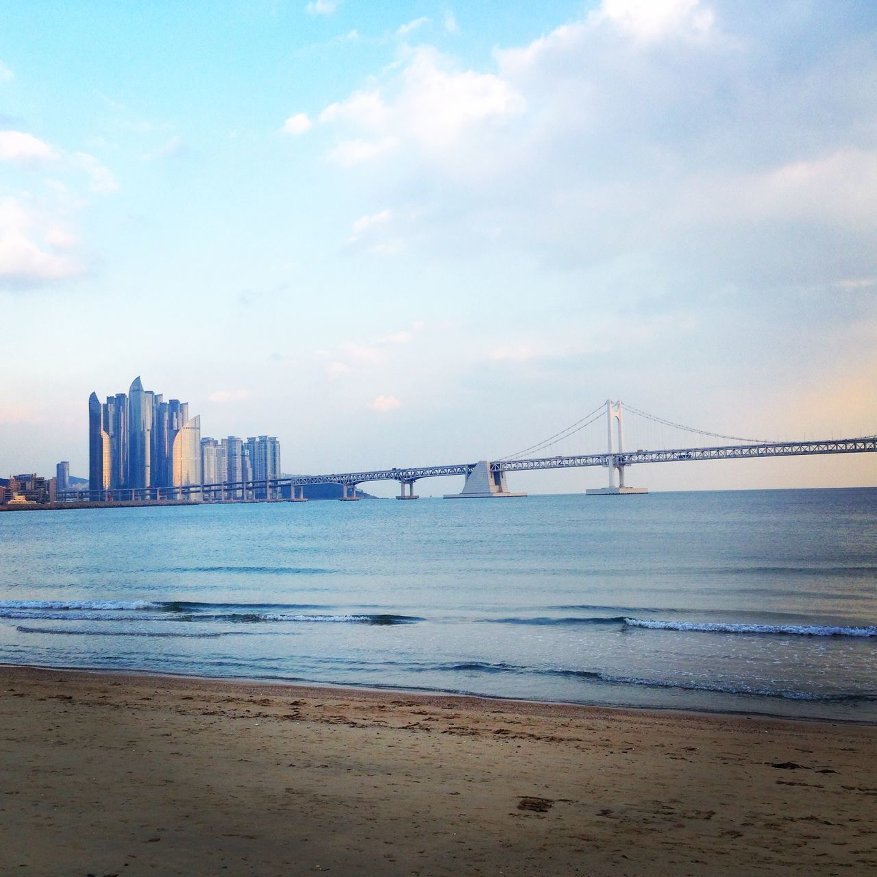 Beach Bridge Skyscrapers Sea Korea 부산 Busan The Great Outdoors - 2015 EyeEm Awards