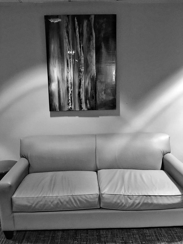 Monochrome of Leather Couch and Artwork. Lobby Resorts Casino Tunica Hotel Lobby. Hotel Lobby Resortscasino Robinsonvillems Tunicams Leathercouch