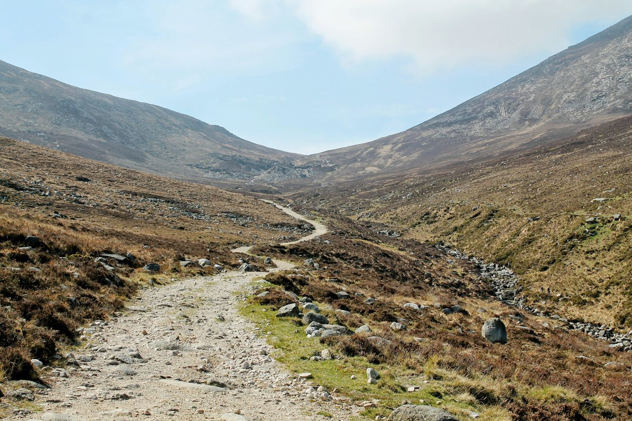 The Bloody Bridge track leading up to Slieve Donard, the highest point of the Mourne Mountains, Northern Ireland Trail Mourne Mountains Mountains Slievedonard Northern Ireland Visit_ireland Landscape Hiking The Great Outdoors - 2015 EyeEm Awards Protecting Where We Play