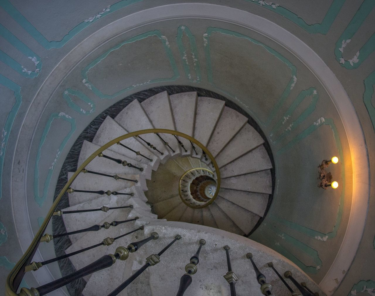 The Downward Spiral Steps And Staircases Steps Staircase Spiral Railing Built Structure Architecture No People Indoors  Day