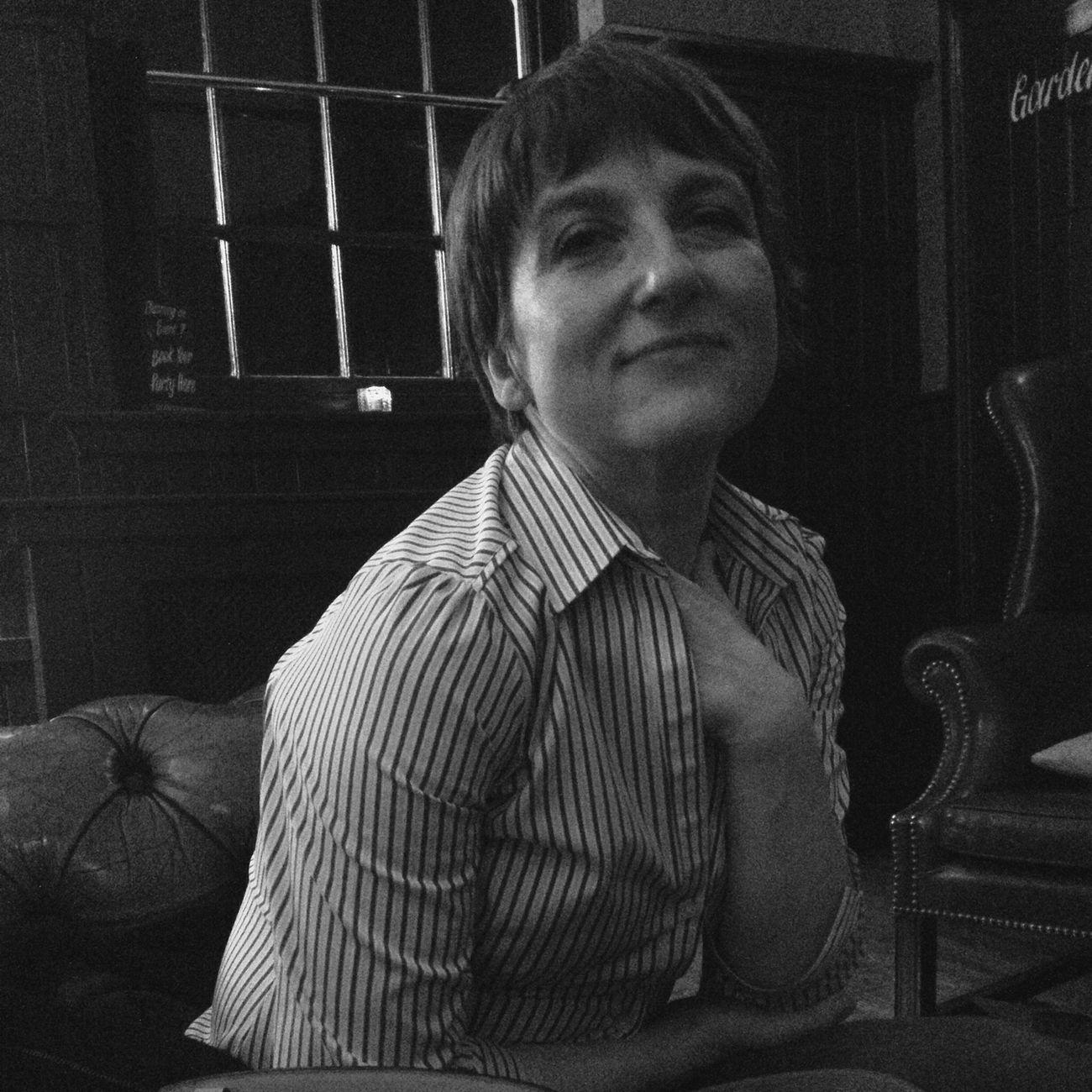 Night Out Monochrome Blackandwhite Portrait Of A Woman