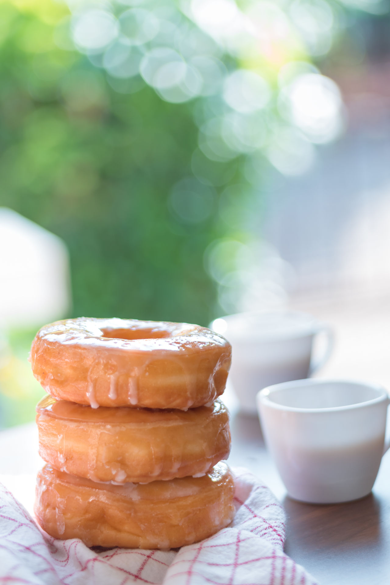 Close-up Coffee Table Coffee Time Day Dessert Doughnuts Focus On Foreground Food Food And Drink Freshness Indoors  Morning No People Ready-to-eat Refreshment Soft Doughnut Stack Sweet Food Table Temptation