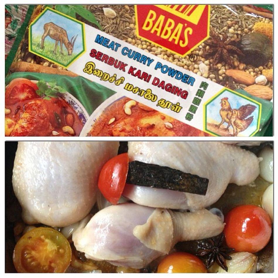 "Baba's ""Serbuk Kari Daging"" Curry Powder is the bomb. Homecooking Karidaging Kari Authentic malay chickencurry lunch"