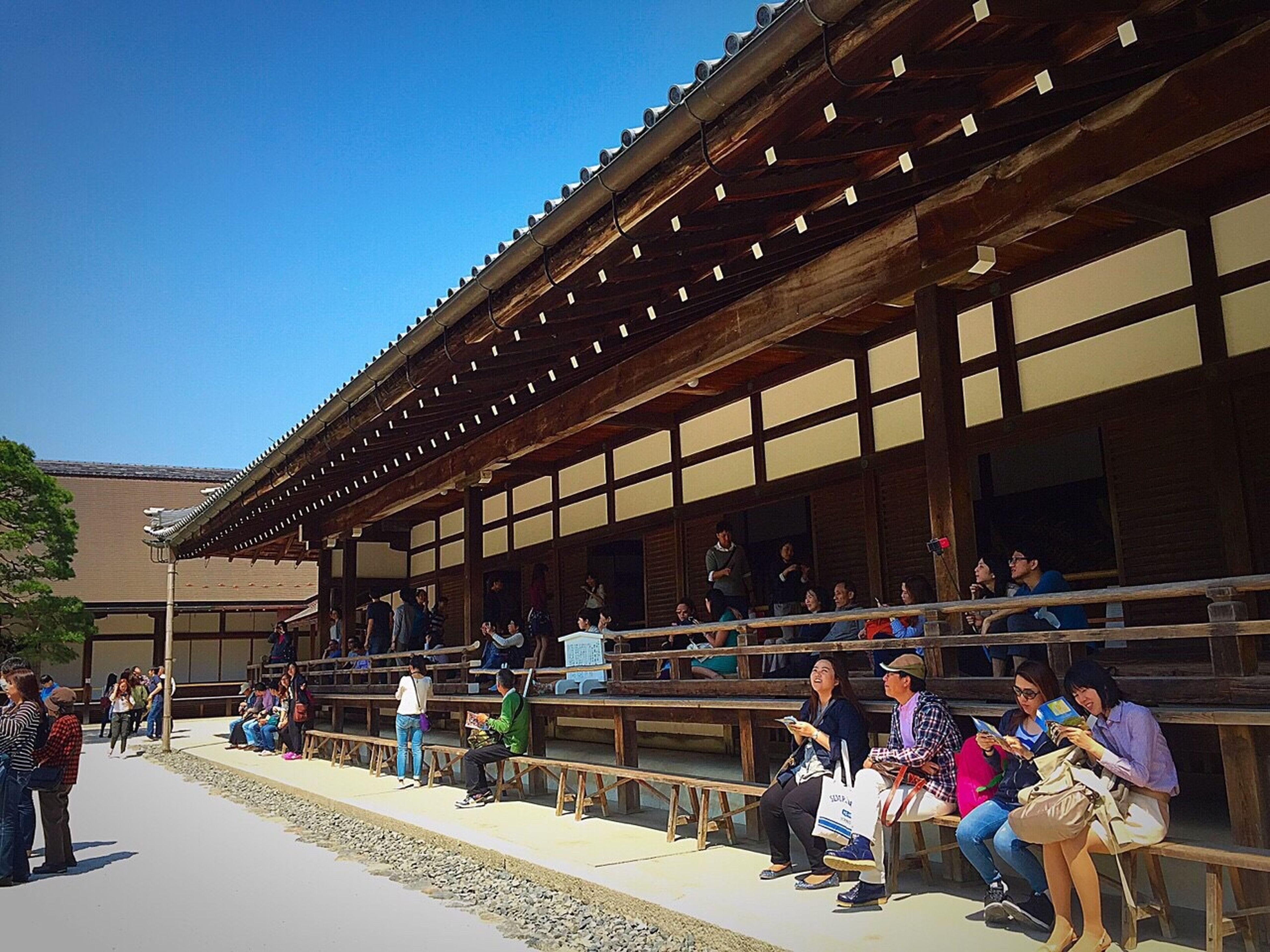 architecture, large group of people, built structure, building exterior, person, men, lifestyles, clear sky, leisure activity, mixed age range, walking, city, city life, sunlight, group of people, day, medium group of people, steps, tourist