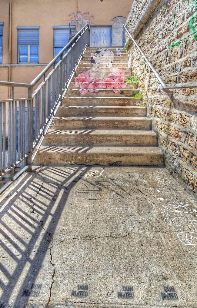 Upstairs Stairs Tag Lyon Streetart Urban Landscape Croixrousse Streetphotography Graffiti Don Mateo