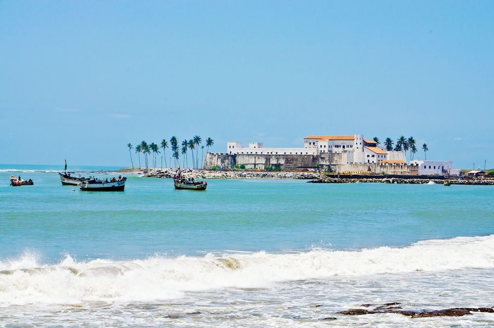 The slave trade castle Beach