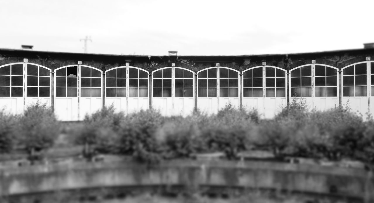 Abandoned Abandoned Places Architecture B&w Black And White Bridge - Man Made Structure Built Structure Connection Day Engine Shed Forgotten Lokschuppen Miniature Nature No People Outdoors Sky Tilt-shift Urban Exploration Urbex Urbexphotography