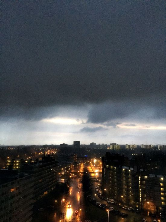 When it rains, it pours. Rainy Days Amsterdam View From The Balcony Enjoying The View Rain Clouds And Sky Dark Clouds Water Reflections