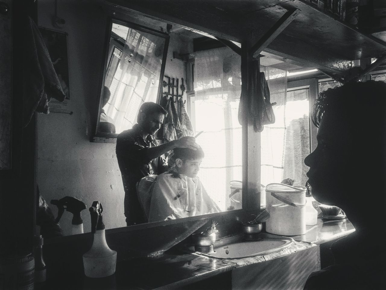 Barber and his shop Live For The Story Summer Haircut Barbershop Beating The Heat Streetphotography India Shimla