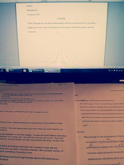 This AP English lit paper is killing me slowly.