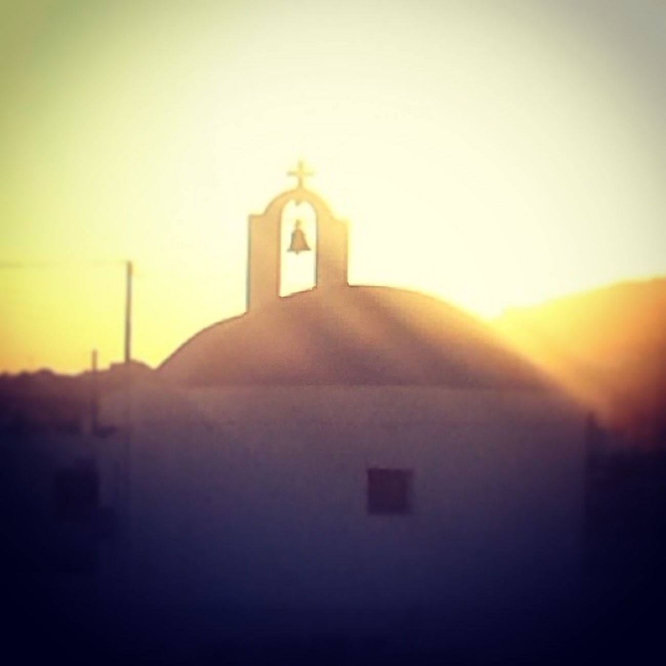 Church lights Santorini Sunset Thelightsareblindingmyeyes Greece