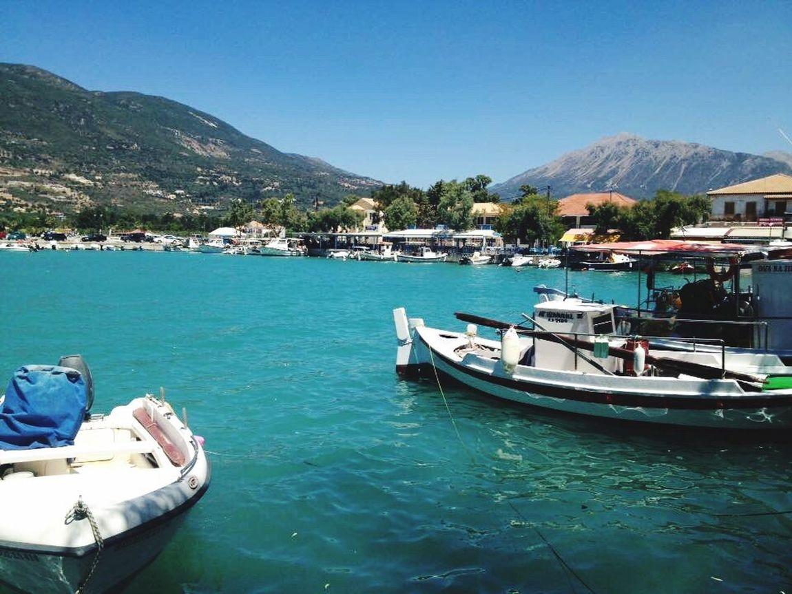 Hello World Lefkada Island Poros Harbour