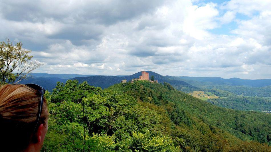 on a hiking tour at Trifels Trifelsland Annweiler Pfalz Hikingadventures Forest Castle On A Hill Adventure Club Hiking Trail