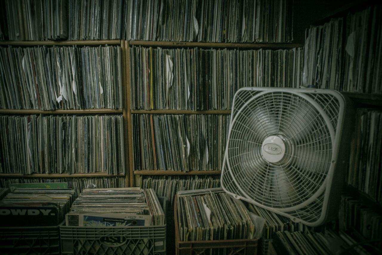Backgrounds Basement Box Boxes Collection Dark Fan Graffiti Hip Hop HipHop Indoors  Neon Lights New York City No People NYC Rap Records Recordstore Shelf Urban Vintage Vinyl Wood - Material