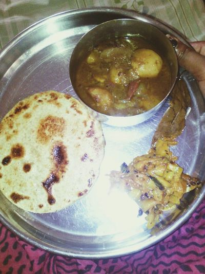 Villager test in it with veraity of indian masala .these masala is made in local village of india . Chapati with homemade ghee First Eyeem Photo