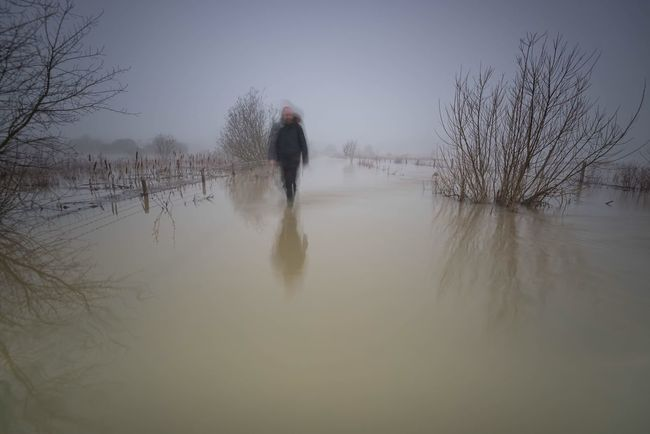 Walking on Water Water Reflections Flooding Fine Art Photography Landscape Moody Sky Landscape_photography Beautiful Nature Northamptonshire That's Me Walking Blurred Motion Ghostly Winterscapes Waterscape Waterfront Floodwaters Check This Out Monochrome Monochromatic Monoart