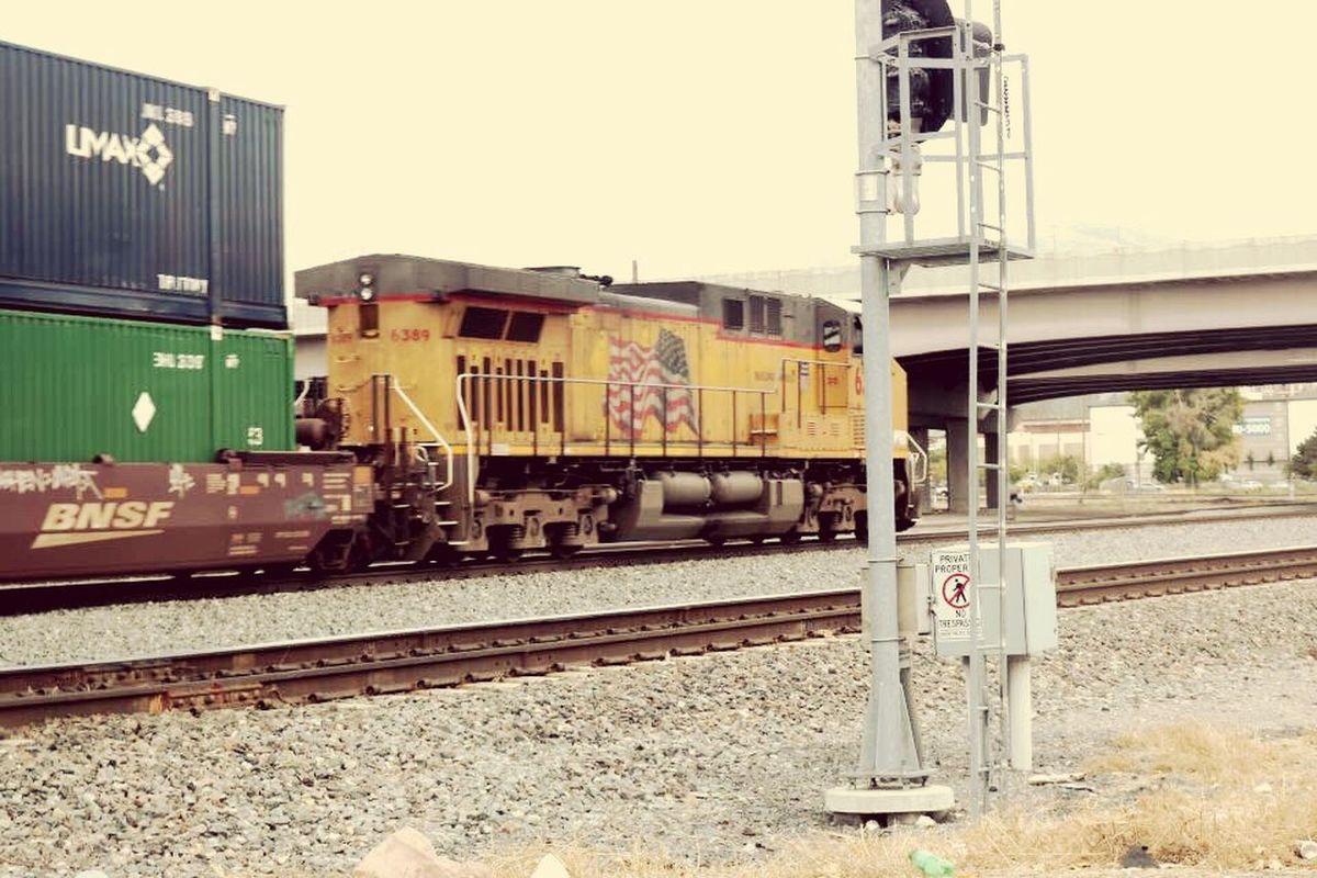 Railroad Train railway cargo Railroad Track Transportation Rail Transportation Outdoors Train - Vehicle