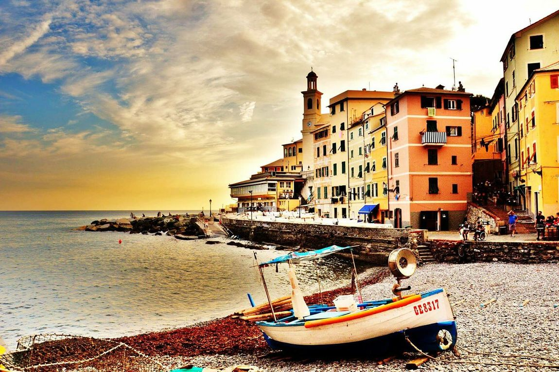 Boccadasse Genova Italia Italy❤️ Spiaggetta Mare Lamiacitta ILoveMyCity Mytown Beach Beach Time Beach Life Boats⛵️ Walking Around