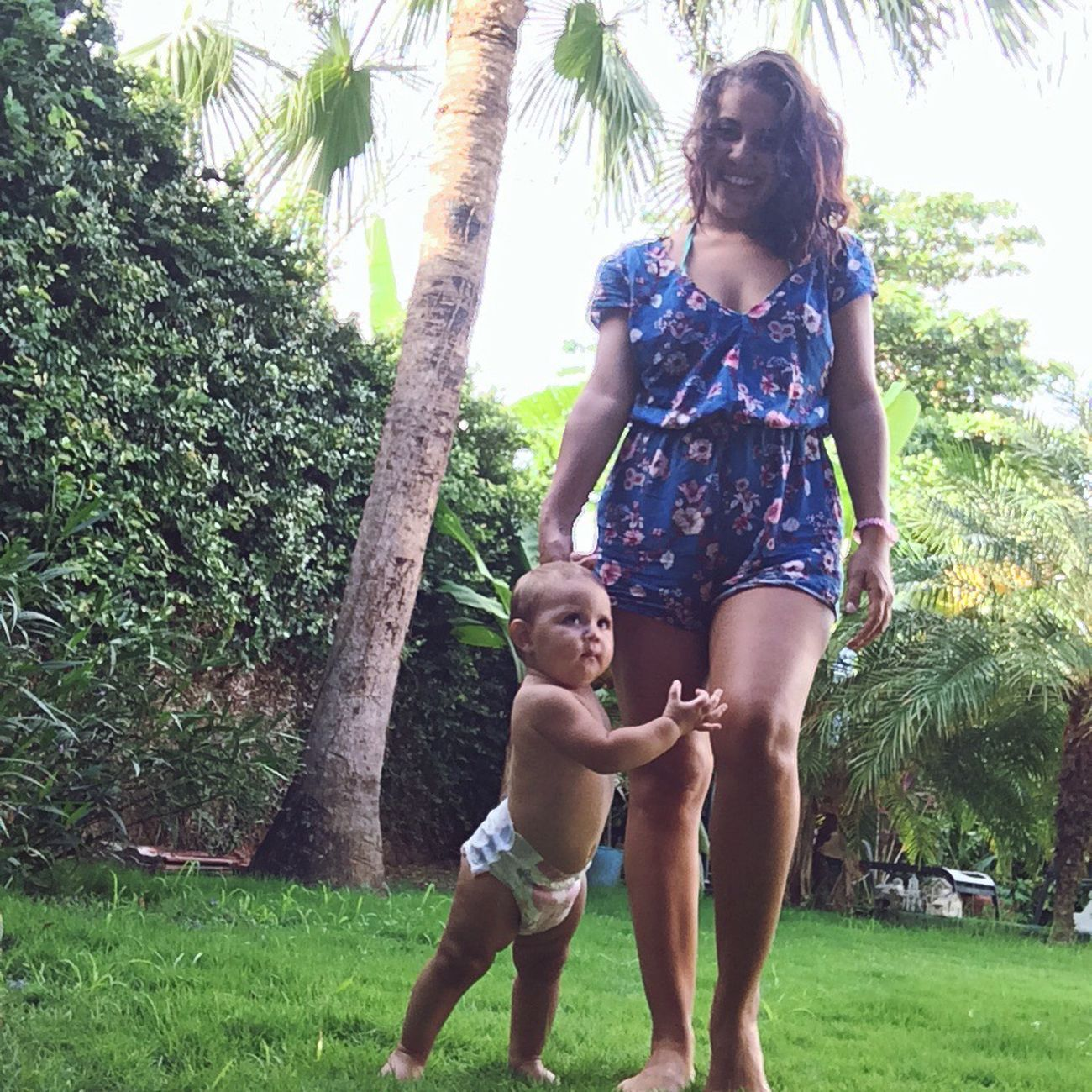 Momanddaughter Forever Mybaby GettingSoBig Myoneandonly Truelove Happiness Best Gift Wonderful Daguhters MotherChildhood Grass Outdoors Family Playing
