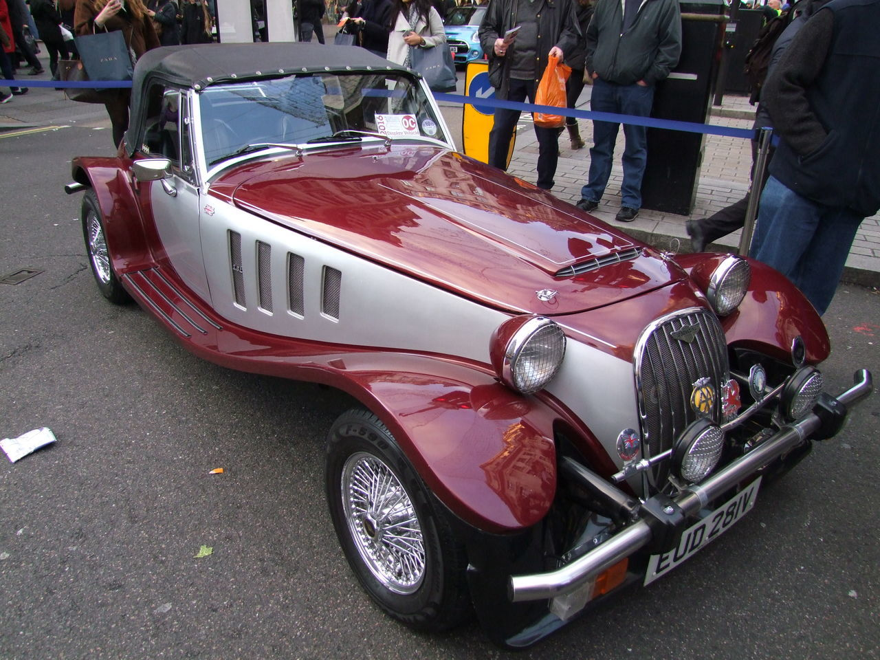 Morgan Car Capital City Car City Composition Convertible Car Full Frame Fun GB Grey And Maroon Colour London London To Brighton Vintage Car Rally Mode Of Transport Modern Cars Morgan No People On Display Outdoor Photography Racing Car Rally Car Reflections Soft Top Sports Car Uk