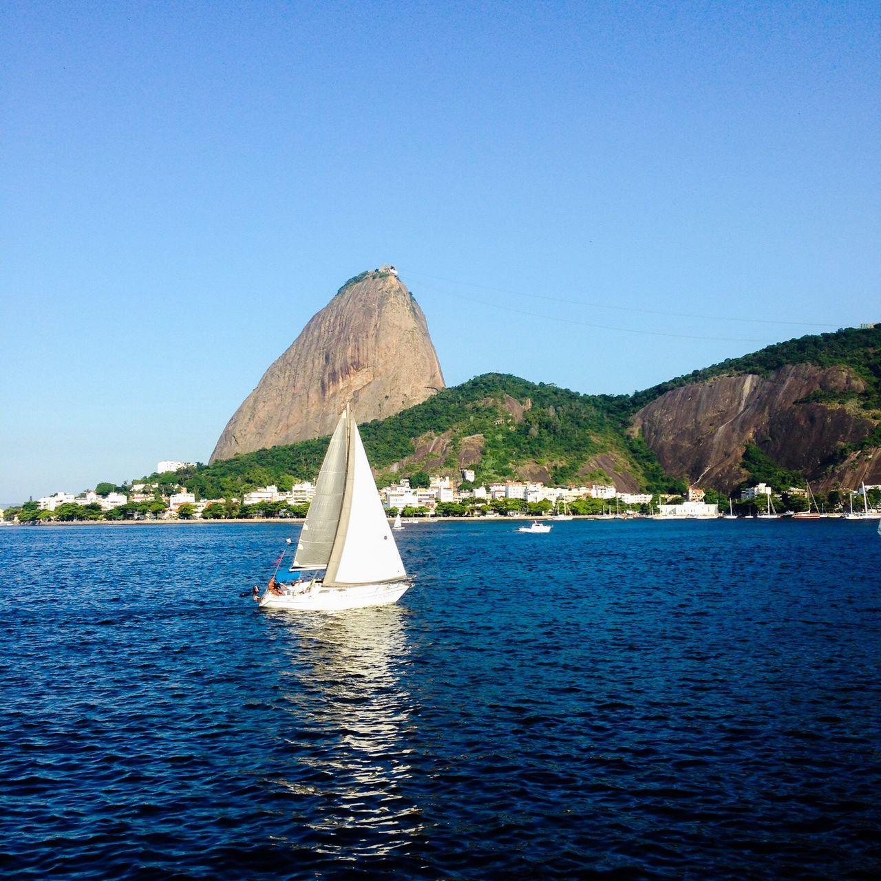 What's On The Roll Sailing Sailboat Sail Away, Sail Away Rio De Janeiro Riodejaneiro Pão De Açucar Sugar Loaf Baia Da Guanabara Baía De Guanabara Sunny Day