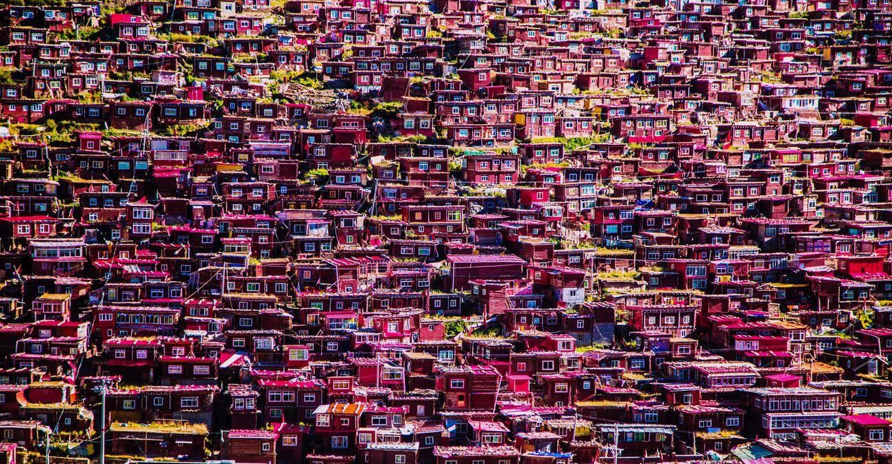 摄影 建筑 旅行 宗教 信仰 红房子 色达 中国 西藏 佛教