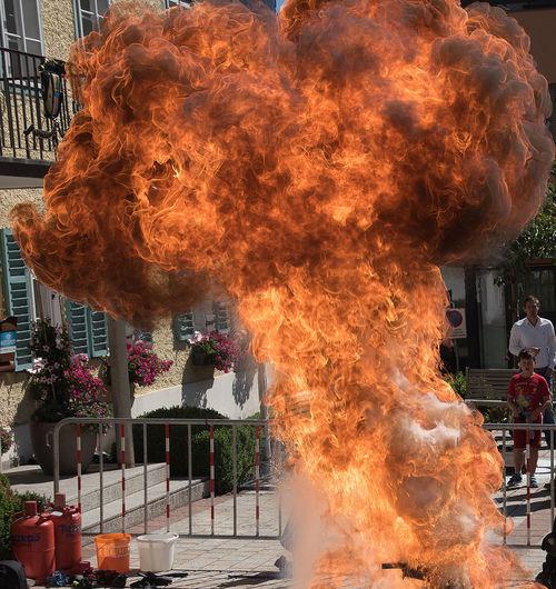 Burning Feuer Feuer Und Flamme Flame Flamme Heat - Temperature Hot Stichflamme
