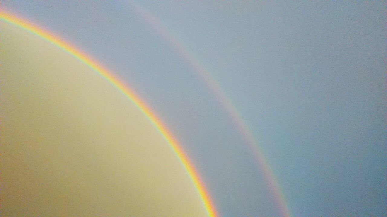 Beautiful double rainbow! Double Rainbows Nature Is Awesome Protecting Where We Play