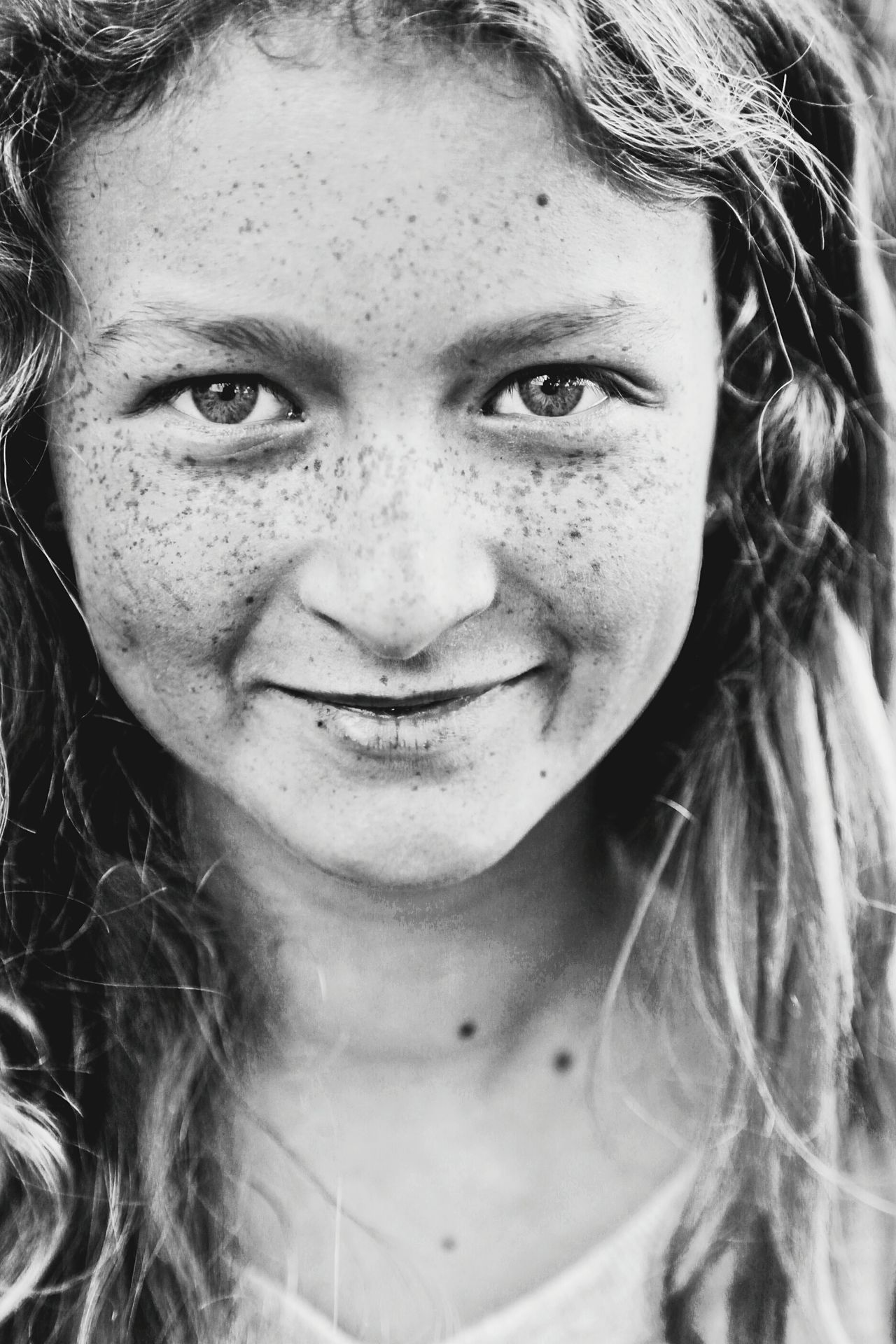 Portrait Freckle Beauty Youth Beautiful People Real People Freckled Girl Close-up Beautiful Girl Blackandwhite Black & White Black And White Smiling Freckles Teenager Teenage Girls Teen One Girl Only Looking At Camera Lifestyle People Youth Of Today Fashion Eyes Eyes Are Soul Reflection EyeEmNewHere Art Is Everywhere Resist The Portraitist - 2017 EyeEm Awards