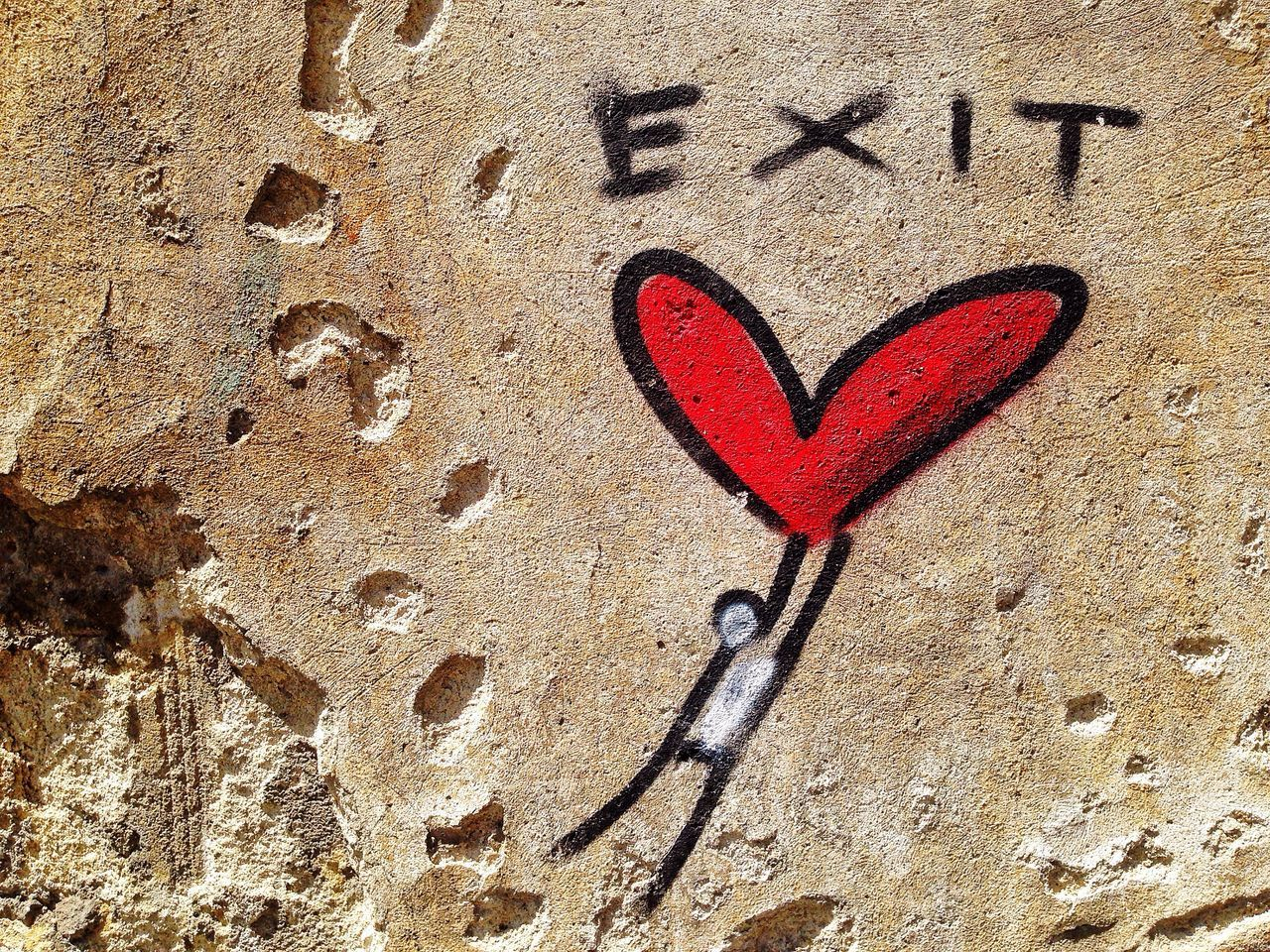 Street Photography Streetart Art Street Anonymous Red Love Love ♥ Red Florence Italy Art Minimal Emotions Exit